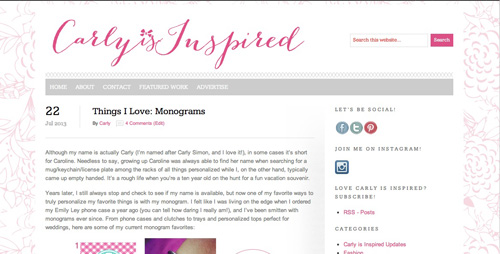 Carly-is-Inspired-website